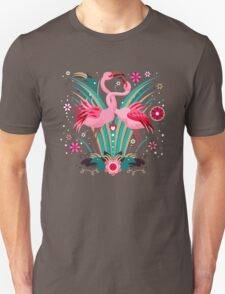 LOVE & FLAMINGO  Unisex T-Shirt