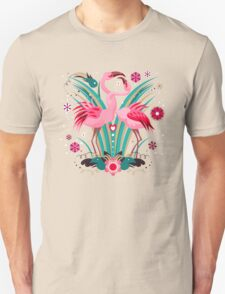 LOVE & FLAMINGO  T-Shirt