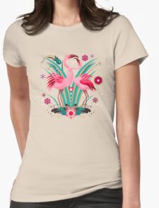 LOVE & FLAMINGO  Womens Fitted T-Shirt