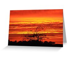 Fire in the Sky at Sunset - Ireland Greeting Card