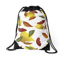Falling Watercolor Leaves Drawstring Bag