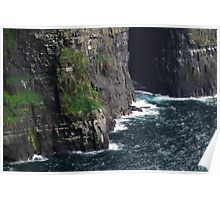 The Sea at the Cliffs of Moher Poster