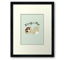 Daddy's Boy Red Hair and Green Eyes Framed Print
