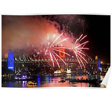 Sydney New Year Eve 2009 Fireworks - Sidewinders Poster