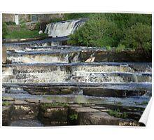 The Cascades Waterfalls in Ennistymon, Clare, Ireland Poster
