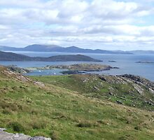 View over the Atlantic Ocean from Mountains in Ballinskelligs by CFoley