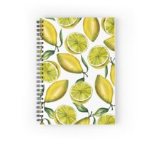 Lemons. Watercolor Spiral Notebook