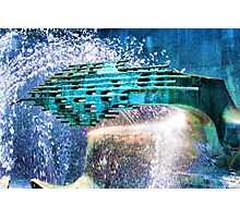 Sculpture in fountain Photographic Print