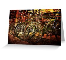 Old Bicycles Greeting Card