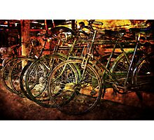 Old Bicycles Photographic Print
