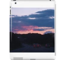 Driving off into the sunset iPad Case/Skin