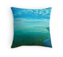 Lake Eyre, central Australia. Throw Pillow
