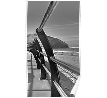 Beach Railings, Portreath Poster