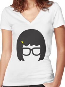Tina Belcher: Silhouette Style  Women's Fitted V-Neck T-Shirt