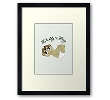 Daddy's Boy Brown Hair and Green Eyes Framed Print
