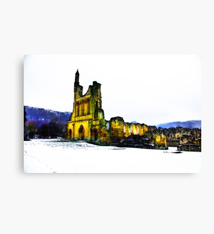 Byland Abbey in Winter Canvas Print
