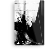 POWERED CUBICLE Metal Print