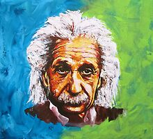Albert Einstein Tribute by Konni Jensen