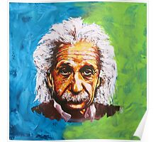 Albert Einstein Tribute Poster