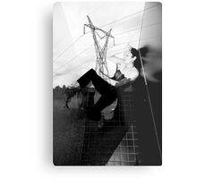 POWERED CUBICLE 3 Metal Print