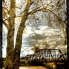 Lake Overhosler Truss Bridge Distressed Vertical by Jim Felder