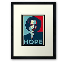 DANA SCULLY SURVIVE Framed Print