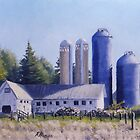 Blue Silo's by RickHansen
