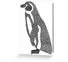 Patterned Humboldt Penguin Greeting Card