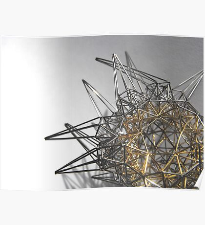 Steel Gold - exploration of form Poster