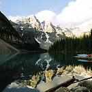 Moraine lake by stuart powell