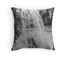 Dry Falls in the Grasp of Winter's Cold Throw Pillow