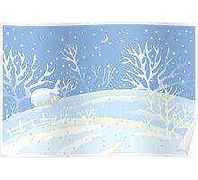 Winter Village Poster