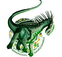 Androsexual Amargasaurus (with text)  by R.A.  Faller