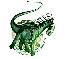 Androsexual Amargasaurus (with text)  Photographic Print