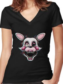 Five Nights at Freddy's - Mangle Scary Women's Fitted V-Neck T-Shirt