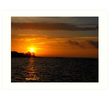 Sunrise/Low Clouds Art Print
