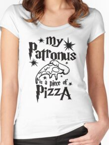My patronus is a piece of pizza Women's Fitted Scoop T-Shirt