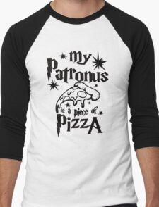 My patronus is a piece of pizza Men's Baseball ¾ T-Shirt