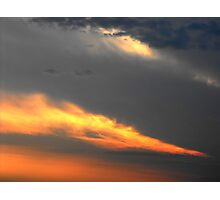 Sunset Streaks Photographic Print