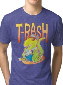 T-Rash in Orange/Blue Tri-blend T-Shirt