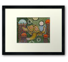 The Garden of Honu Framed Print