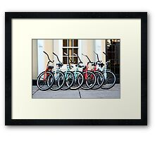 Bicycles at the Ready Framed Print