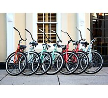 Bicycles at the Ready Photographic Print