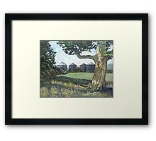 Four Bins Framed Print