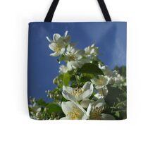 Bright White Philadelphus II Tote Bag