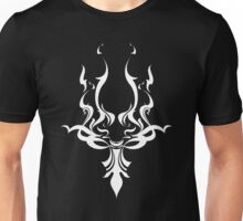 Tribal Face Design - 'Solid White Version' Unisex T-Shirt