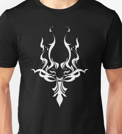 Tribal Face Design - 'Solid White Version' Unisex T-Shirt