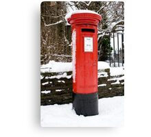 Postbox...a disappearing feature  Canvas Print