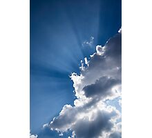 Blue Sky and Sunbeams Photographic Print