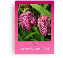 Valentine Tulips Canvas Print